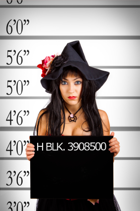 Arrested witch